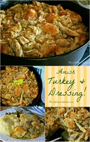 bread stuffing thanksgiving amish roast turkey or chicken and dressing casserole