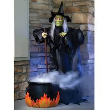 halloween animated witch the spell casting animated witch hammacher schlemmer
