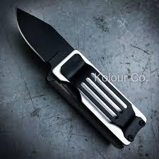lighter holder w spring assisted open folding pocket knife bro
