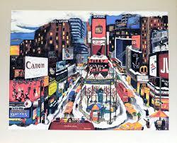Linnea Pergola Artist by Times Square In The Snow By Linnea Pergola U2013 Edward Kurstak Fine