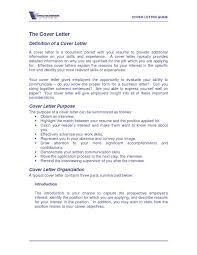definition of a cover letter the letter sample