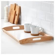 klack tray rubberwood 38x58 cm ikea