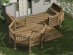 Deck In The Backyard Evonne Deck Plan 107d 3001 House Plans And More