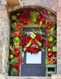 Ideas For Interior Decoration Love The Concept Of Cutting The Wreaths In Half For Double Door