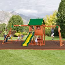lexington wooden swing set playsets backyard discovery