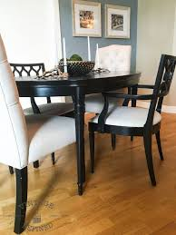 Painted Dining Room Furniture Ideas Dining Room Update Painting Dining Table Chairs Hometalk