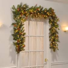 holiday time pre lit 18 christmas garland multi lights christmas garlands you ll love wayfair