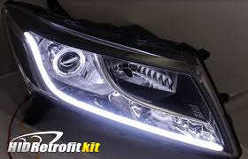 Custom Car Lights 2013 2016 Nissan Pathfinder Hid Bixenon Retrofit Strip Headlights