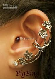 ear cuffs online 50 hotsale flower in ear retro ear cuff earrings online
