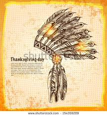 american indian headdress feathers sketch stock vector