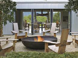 Patio Table With Built In Fire Pit - 35 metal fire pit designs and outdoor setting ideas