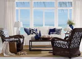 South Beach Sofa Beach Themed Coffee Table Coastal Living Table Palm Glass In
