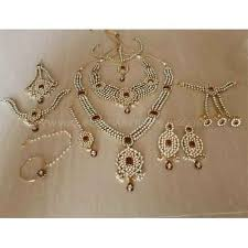 bridal jewelry necklace set images Complete bridal jewelry set 22k gold plated bridal jewellery at rs jpg