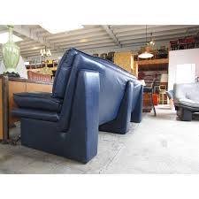 Navy Blue Leather Sofas by Navy Blue Leather Sofa By Nicoletti Salotti Chairish