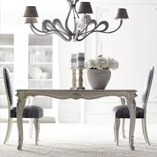 high end italian silver leaf dining table set juliettes