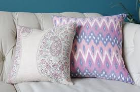 peter dunham isfahan in raspberry pink pillow cover