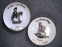 birth plates sheffield pottery custom birth plates