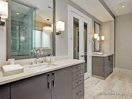 Chrome Bathroom Sconces Contemporary Master Bathroom With Undermount Sink U0026 Wall Sconce In