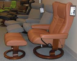 Brown Leather Recliner Chair Stressless Eagle Large Wing Recliner Chair Ergonomic Lounger And