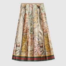 silk skirt sea map print silk skirt afrikan hub