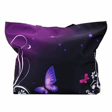 purple butterfly foldable shopping bag freedom look