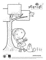 peg cat coloring pages coloring page for kids