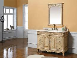 antique bathroom vanity ideas for mid century home interior design mid century spacious open plan bathroom design with simple carving wooden vanity and trough sink