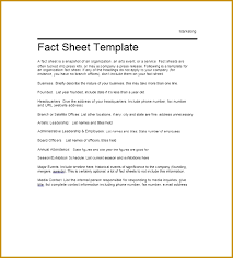 employees information sheet fact sheet template in pdf