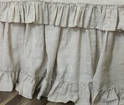linen bed skirt with 4 u201d country ruffle hem great match of the
