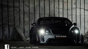 bentley black matte vilner reveals modified bentley continental gt