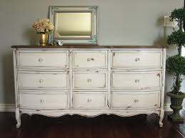 Bedroom Dresser For Sale Furniture White Distressed Dresser For Sale With 9 Drawer And