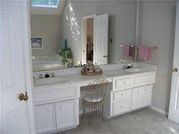 Masters Bathroom Vanity by Double Sink Bathroom Vanity With Makeup Area In Master Bath The