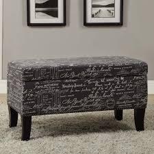 Storage Ottoman Table by Linon Carmen Shoe Storage Ottoman Black Hayneedle