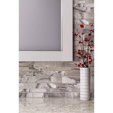 shop elida ceramica volcanic beige silver glass mosaic linear