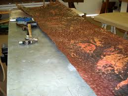 hammered copper dining table copper dining table in the making mike dumas copper designs blog