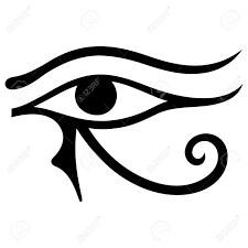 the ancient symbol eye of horus moon sign left eye