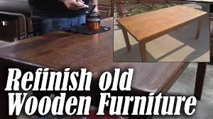 how to refinish a wood table refinish an old wood table or desk youtube