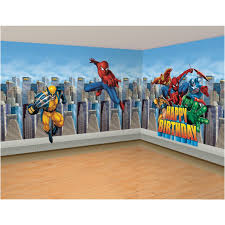 marvel super hero bedroom wall decal ideas for kids
