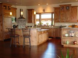 Rustic Hickory Kitchen Cabinets by Alder Kitchen Cabinets Images Tehranway Decoration