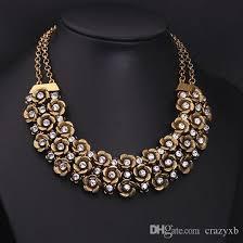 vintage necklace design images Wholesale new design brand vintage ethnic multilayer flower choker jpg