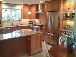 Natural Cherry Shaker Kitchen Cabinets Choosing A Wood Species Type For Kitchen Cabinets