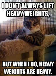 Heavy Lifting Meme - i don t always lift heavy weights but when i do heavy weights