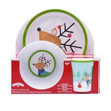time kid s 3 reindeer dinnerware set walmart canada