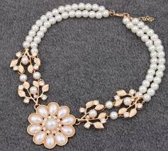 white pearl necklace designs images Lastest design simulated white pearl necklace for women fashion jpg