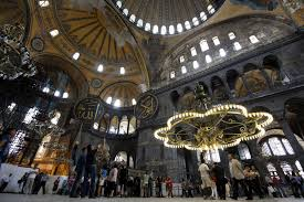 hagia sophia mosque conversion protests hundreds call for