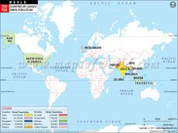 hinduism map top ten countries with largest hindu population ma hinduism