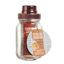martini shaker set mason jar with peach martini mixer at wilko com