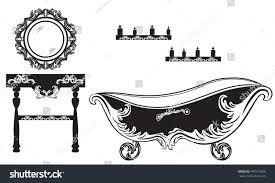 Baroque Bathroom Accessories Rich Baroque Rococo Bathroom Set French Stock Vector 447575800