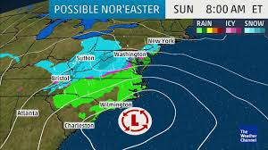 Weather Map Atlanta by Will A Nor U0027easter Kickoff Spring With East Coast Snow Aol Weather