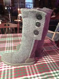 s ugg bailey boots s ugg 3 button bailey boots knit cardy grey gray size 8 9 ebay